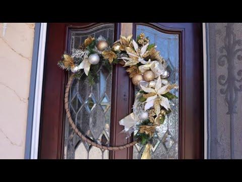 How To Make A Glam Christmas Wreath (easy decor ideas for christmas)