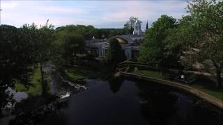 Phantom 3 drone flies over Milford Duck Pond