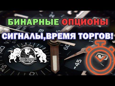 Бинарные Опционы - Сигналы, Время Торгов.
