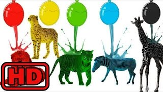 Kid -Kids -Learn Colors With Water Balloon Paint   Learn Colors With Animals For Children   Finger