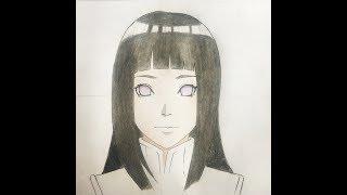 How to draw Hinata  Hyuga (Naruto the last)