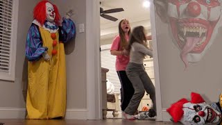 Creepy Clown Running Around With Behind The Scenes!