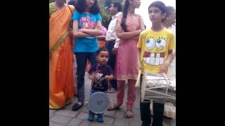 Ashmit Abhyankar - Indian Musical Instrument TASHA  by 2.5 Year old kid