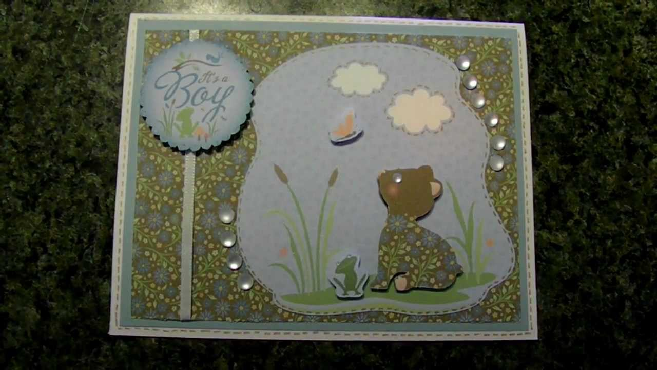 Cricut Quot Its A Boy Quot Baby Bear Shower Card Nursery Tails