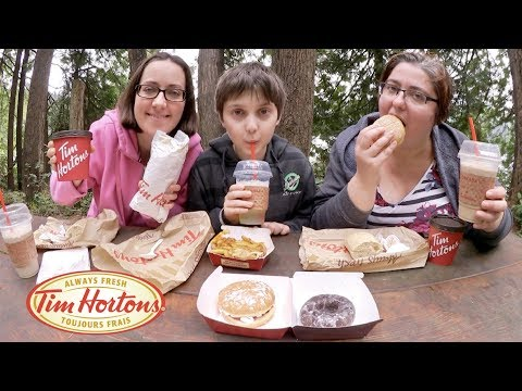 Tim Hortons Donuts And Chili | Gay Family Mukbang (먹방) - Eating Show
