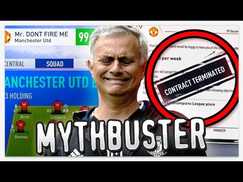 Can You Be Sacked in Career Mode With a 99 Manager Rating? - FIFA Mythbusters