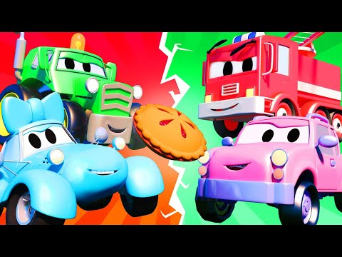 Baby Cars -  Food Fight - Car City ! Trucks Cartoon for kids