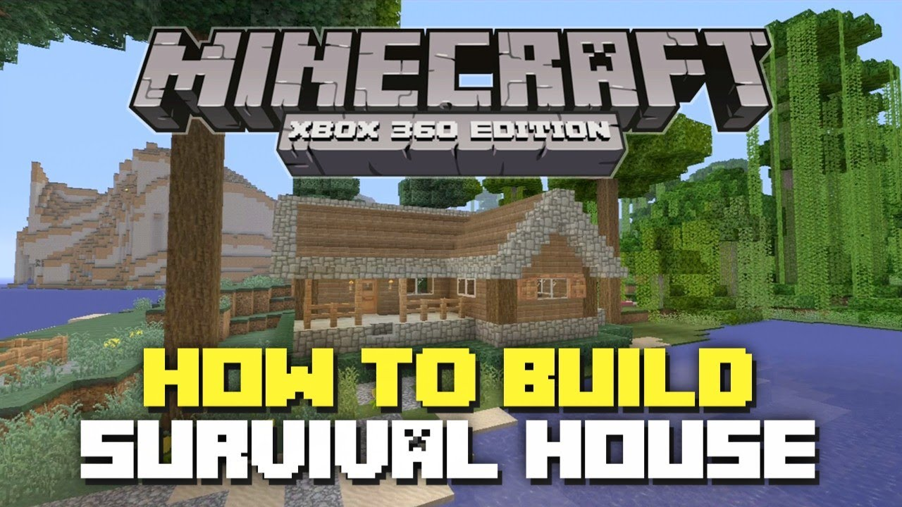 Minecraft Bedroom Ideas Xbox 360 minecraft xbox 360: how to build: simple survival house! - youtube