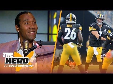 TJ Houshmandzadeh weighs in on Le'Veon Bell concerns, Big Ben & OBJ handling media | NFL | THE HERD