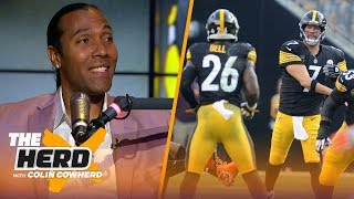 TJ Houshmandzadeh weighs in on Le'Veon Bell concerns, Big Ben & OBJ handling media | NFL | THE HERD