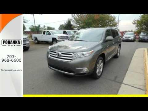 2017 Toyota Highlander Arlington Va Acura Washington Dc Md Gl008651a Sold