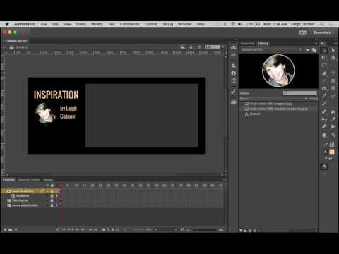 Animate CC - Part 7 Importing Assets and Tracing Bitmaps