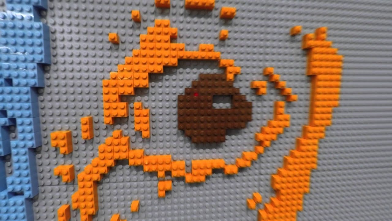 Lego Mural Wall In Time Lapse Youtube