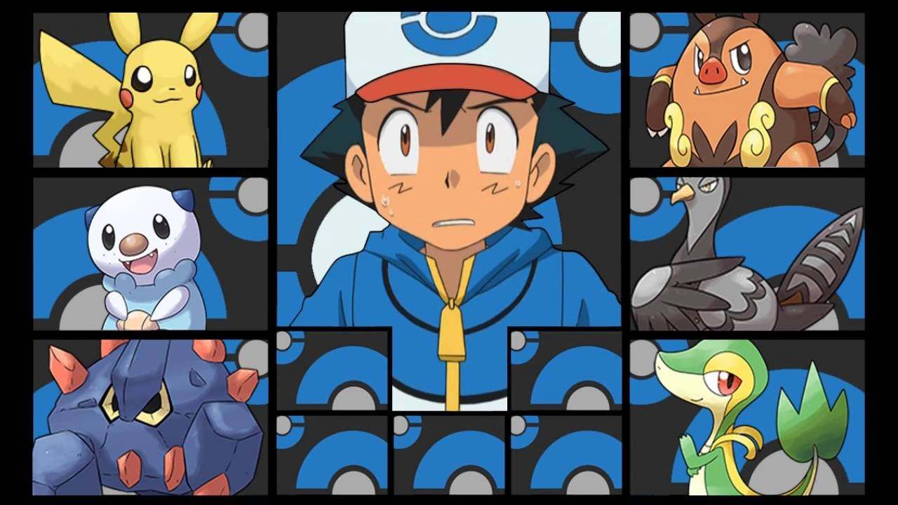 ashs pokemon team gen 5 unova youtube