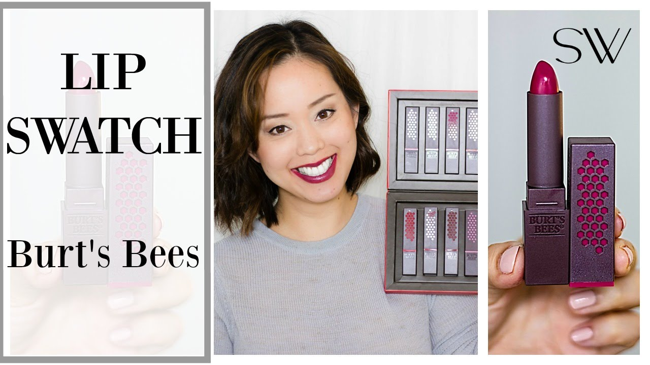 97e0bbde8256 BURT S BEES LIPSTICK REVIEW + SWATCHES - YouTube