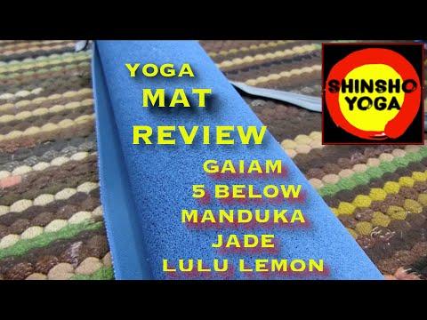 Yoga Mat Review Gaiam, 5 Below, Manduka, Jade & Lulu Lemon