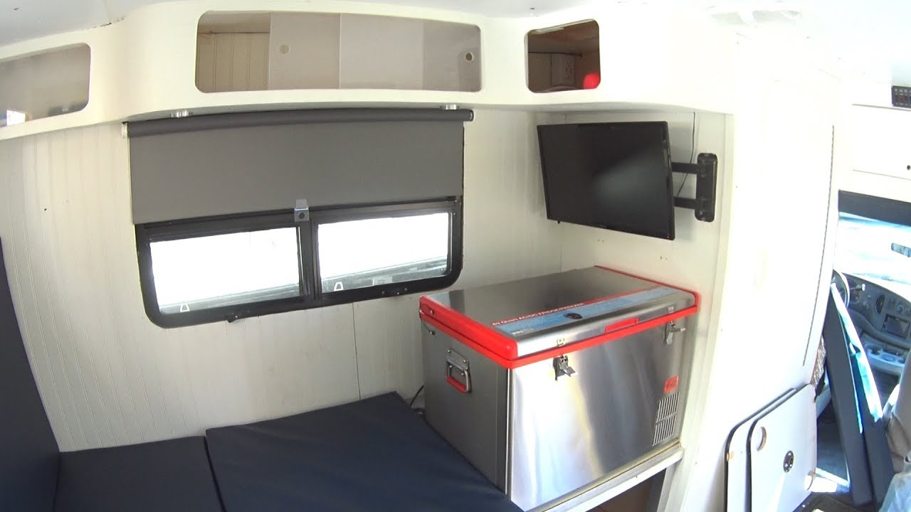 DIY Box Truck Camper Layout Changes - YouTube