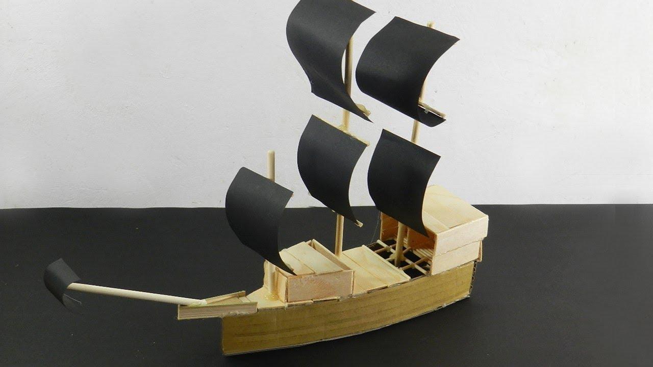 6 Popsicle Stick Pirate Ship & Boat