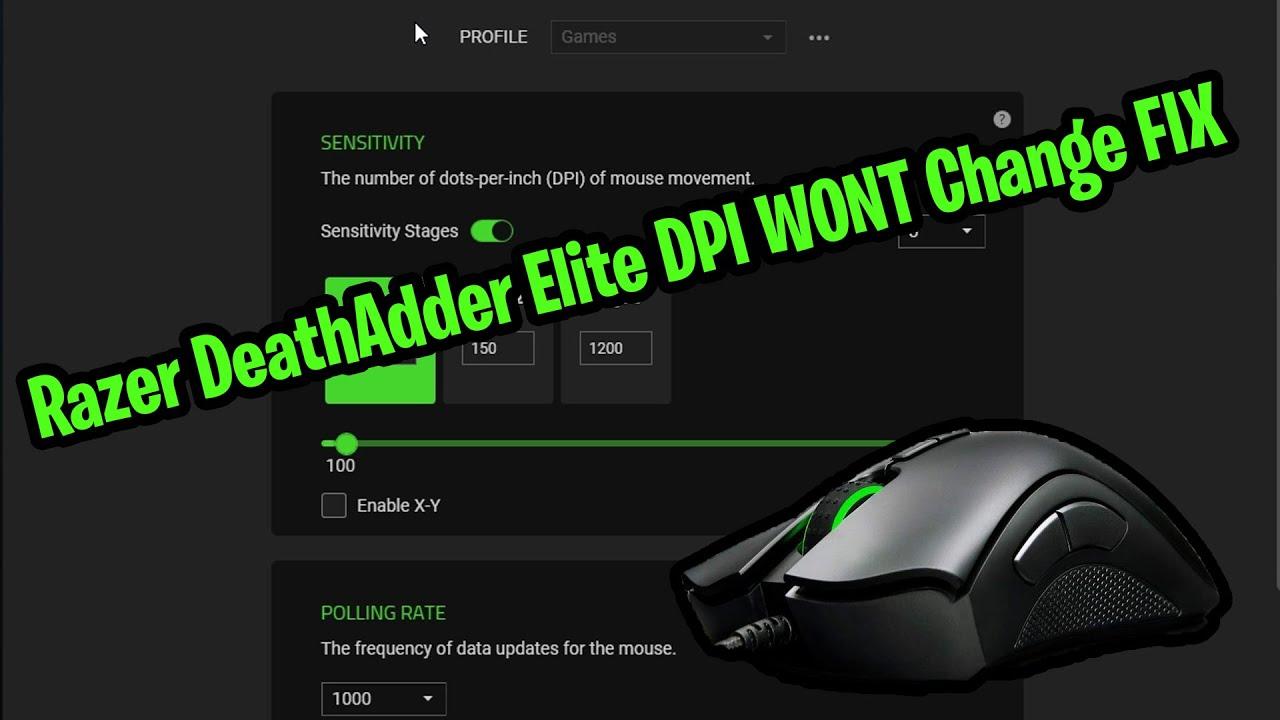 Razer Deathadder Cronusmax Mouse Settings Fortnite Razer Deathadder Elite Dpi Wont Switch Change Fix Youtube