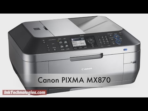 Canon PIXMA MX870 Instructional Video - YouTube