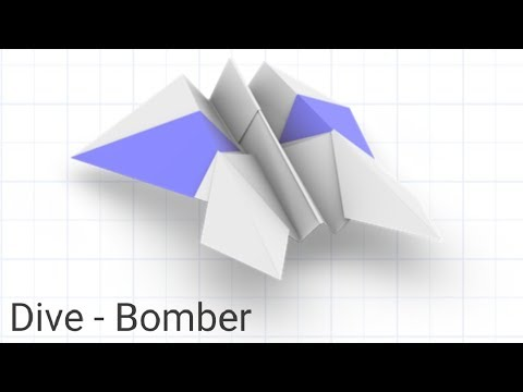 How to make Dive-bomber paper airplane / toy paper / Diy