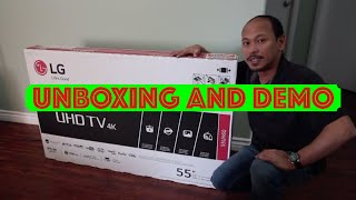 LG 55UH6030 Unboxing and Demo