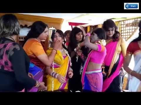 Indian Crossdressers Celebarating Birthday