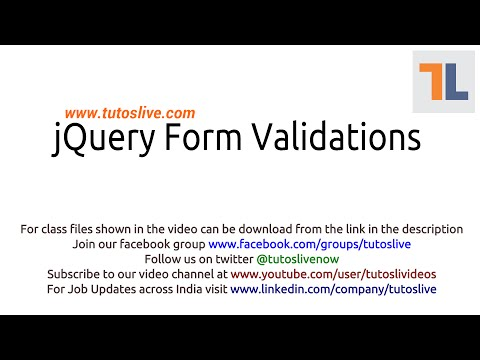 jQuery Form Validations By Tutoslive