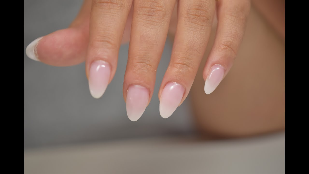 How To Natural Looking Almond Nails Hard Gel Extension