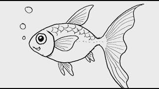สอนวาดรูป การ์ตูน ปลาทอง