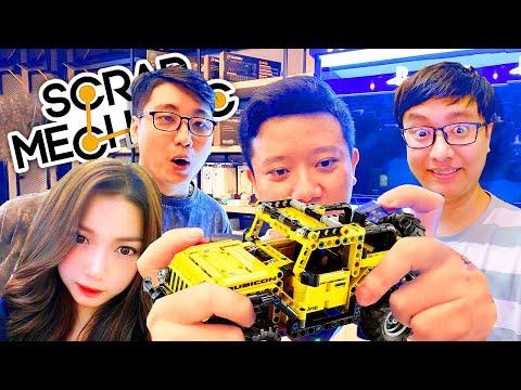 SCRAP MECHANIC #1: CÙNG EM GÁI HẢI DƯƠNG LẮP GHÉP LEGO !!! Não to lắm mới chơi được game này =)))