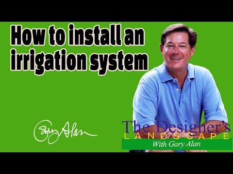 How to Install an Irrigation System Designers Landscape#713