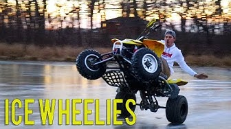 Quad Wheelies on ICE!!