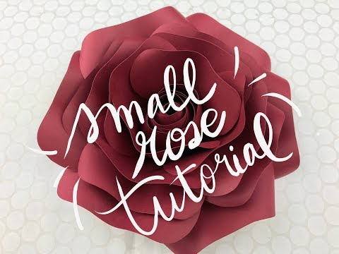 DIY Rose Tutorial (Small Size Paper Rose)
