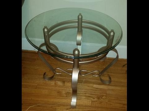 DIY Bronze Scroll Table