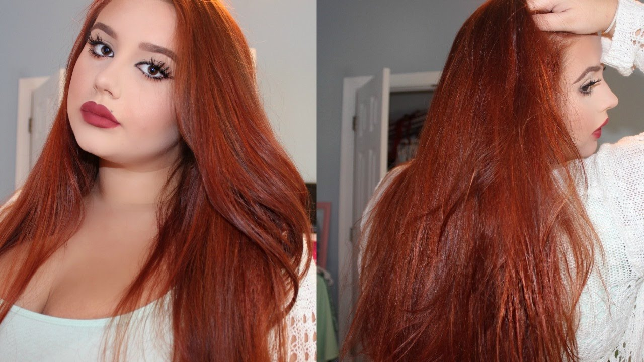 How To Dye Your Hair Copper Red ♡ From Medium Dark Brown