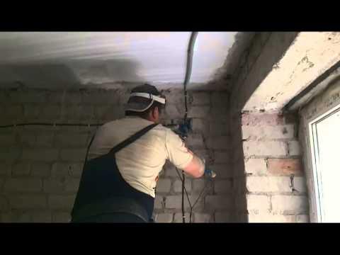 Прокладка электропроводки в кирпичном доме.