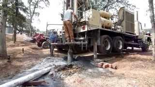 Drilling a Primary Water Well HQ  in Tuolumne Co, Jamestown, CA