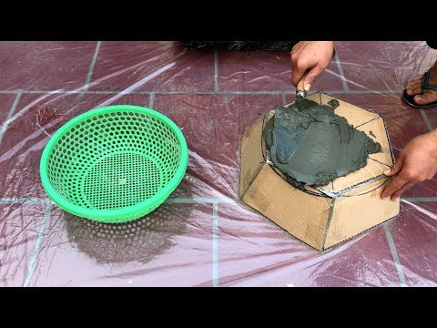 Making concrete tree pot from simple items ✔️ - Cement craft ideas ✔️