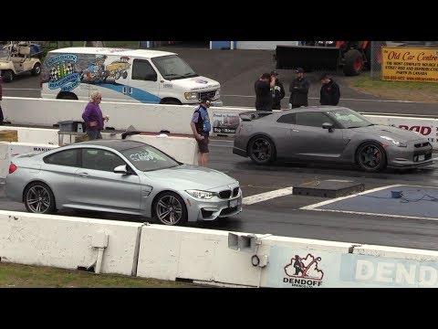 GTR vs BMW M4  drag race