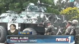 News@1: PNP, tiniyak na walang paggalaw ang MNLF sa Davao; Region-11 naka-alerto...9/10/13