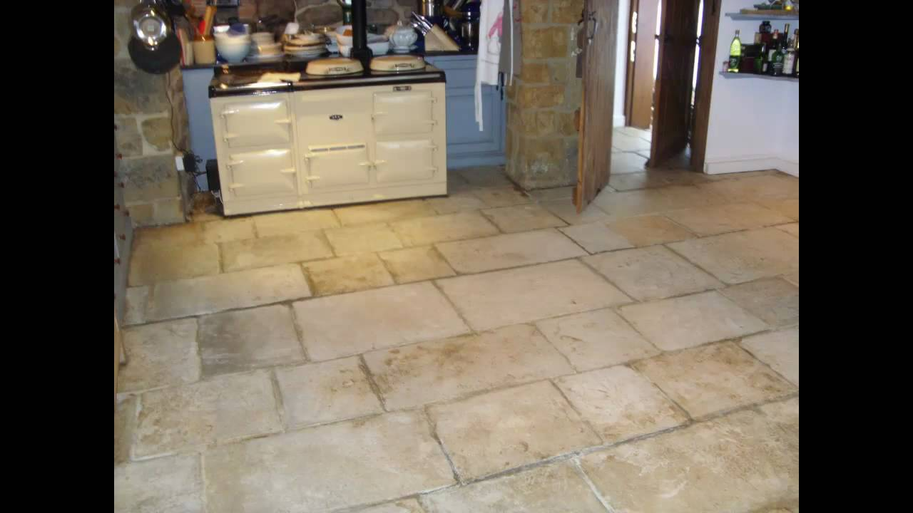 Flagstone Floor Cleaned And Sealed Near Rugby Warwickshire By