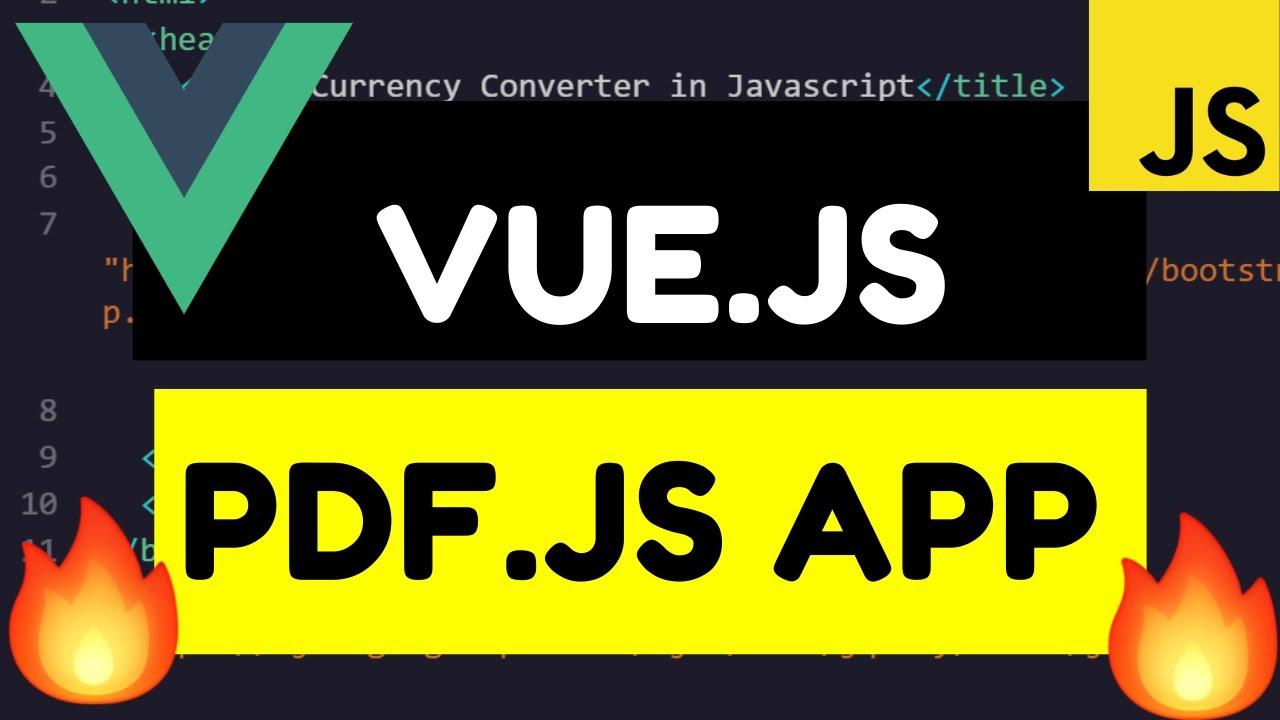 Vue.js Render PDF Document in PDF.js Using PDFjs-dist Library Full Tutorial For Beginners