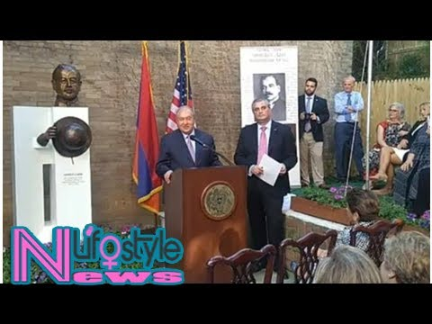 President Sarkissian attends opening of statue of first Ambassador of Armenia to USA Armen Garo streaming vf