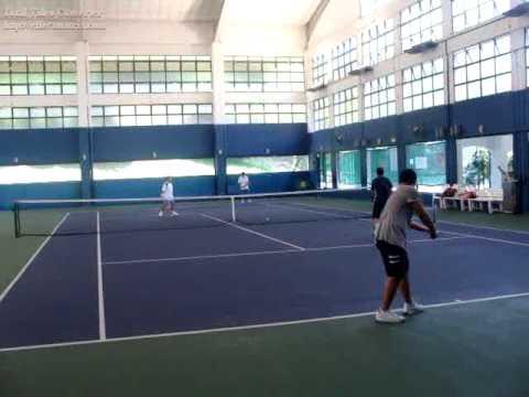 Tennis in Keppel Club, Singapore.