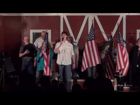 Andrew Tompkins sings God Bless The U S A at The Gladewater Opry 02 18 17
