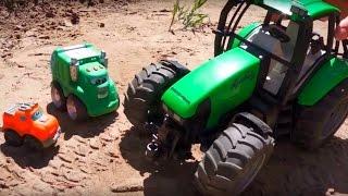 Chuck & Rowdy: Pool bauen mit dem Bagger | Spielzeug Abenteuer für Kinder