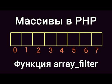 Массивы в PHP. Функция Array_filter
