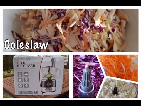 Aldi AMBIANO Food Processor Review & Coleslaw Recipe