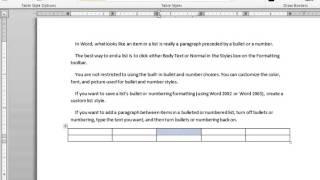 Lesson  31 Insert Table Microsoft Office Word 2007 2010 Free Tutorial Urdu Hindi Video Training tale